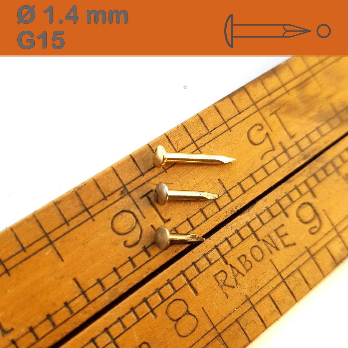 Antiquität Drahtstifte - Kupfer Patiniert Dekonägel Rundkopf