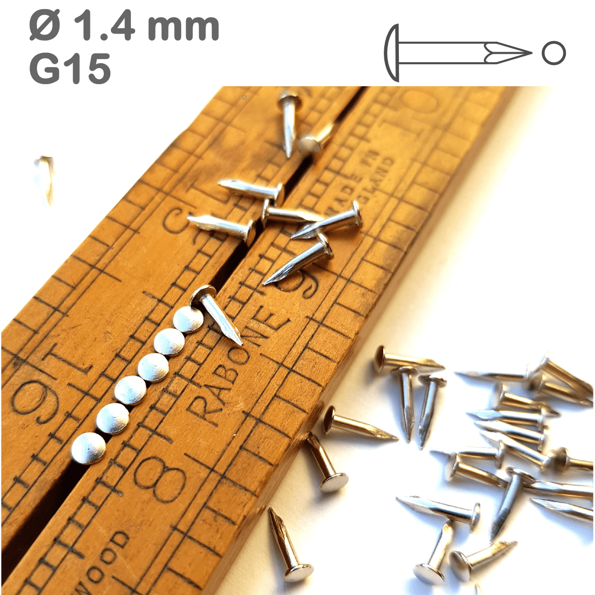 Shiny Silver Nickel-Plated Nails