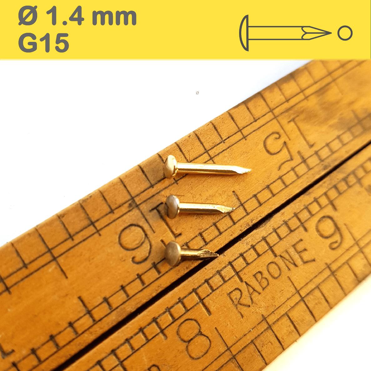 Shiny Brass-Plated Nails